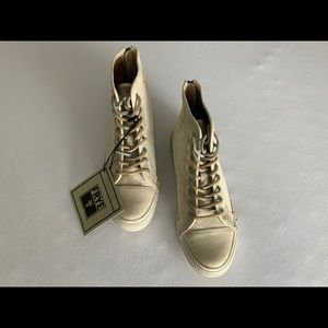 Frye Greene high back zip canvas sneakers size 7M